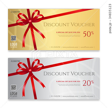 gift voucher certificate or discount card templateのイラスト素材