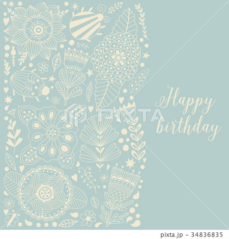 Vector Illustration made of flowers and herbs 34836835