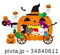 ハロウィンのかぼちゃ馬車 34840611