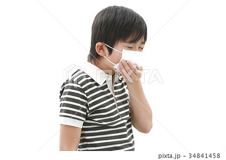 マスクをした男の子 34841458