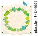 看板 リース 新緑リースのイラスト 34844994