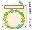 看板 リース 新緑リースのイラスト 34844996