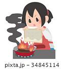 料理 火事 消火のイラスト 34845114