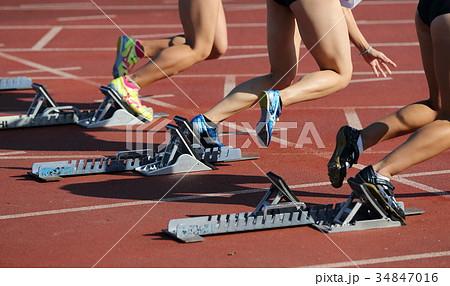陸上競技 100m スタート 34847016