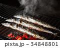 秋刀魚 焼き秋刀魚 焼き魚の写真 34848801