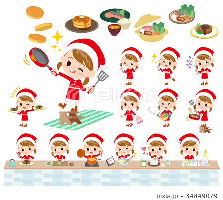 Santa Claus Costume girl_cooking 34849079