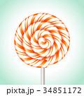 お菓子 アメ菓子 キャンディーのイラスト 34851172