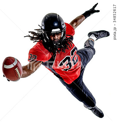 american football player man isolated 34852617