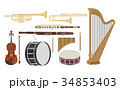An illustration of musical instruments set 34853403