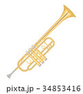 illustration of a trumpet on white background. 34853416