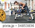 スポーツジム トレーニング ダンベルの写真 34853836