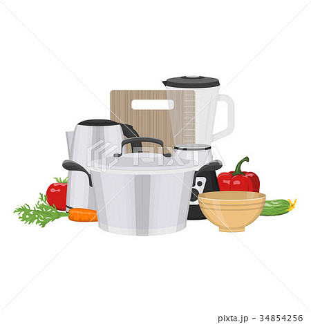 Kitchen and food preparing topic. 34854256
