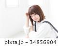 女性 若い ヘアスタイルの写真 34856904