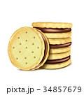 クッキー ベクトル クリームのイラスト 34857679