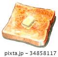 パン 水彩 洋食のイラスト 34858117