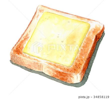 水彩で描いたチーズトースト 34858119
