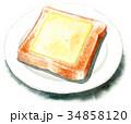 パン 食パン チーズのイラスト 34858120