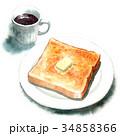 パン 洋食 食パンのイラスト 34858366