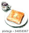 パン 洋食 食パンのイラスト 34858367