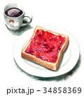 パン 洋食 食パンのイラスト 34858369