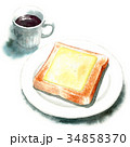 パン 洋食 食パンのイラスト 34858370