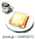 パン 洋食 食パンのイラスト 34858371