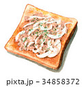 水彩 朝食 ベーカリーのイラスト 34858372