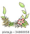 花 フレーム 枠 34860058