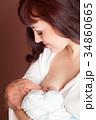 母乳育児 ベビー 赤ちゃんの写真 34860665