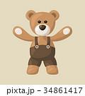 クマのぬいぐるみ テディベア テディーベアのイラスト 34861417