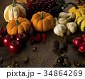 秋 かぼちゃ りんごの写真 34864269