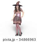 魔女 魔法使い 女性のイラスト 34866963