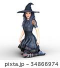 魔女 魔法使い 女性のイラスト 34866974