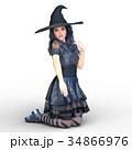 魔女 魔法使い 女性のイラスト 34866976