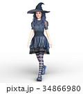 魔女 魔法使い 女性のイラスト 34866980