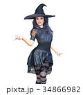 魔女 魔法使い 女性のイラスト 34866982
