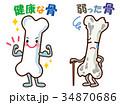 健康な骨 骨 キャラクターのイラスト 34870686