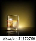 ウィスキー ウイスキー アルコールのイラスト 34870769