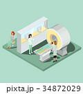 磁気共鳴イメージング スキャナ スキャナーのイラスト 34872029