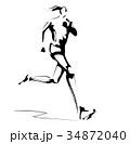 女性ランナー 34872040