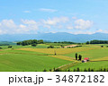 北海道 爽やかな美瑛の風景 34872182