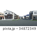 住宅 一軒家 住宅地のイラスト 34872349