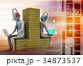 ネットワーク 通信 人々のイラスト 34873537