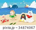 どうぶつたちの海遊び 34874067