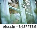 雨の日 自宅で過ごす女性 34877536