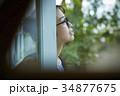 雨の日 お出かけをする女性 34877675