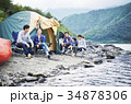 キャンプを楽しむ家族 34878306
