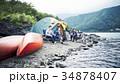 キャンプを楽しむ家族 34878407