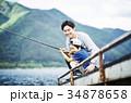 釣りを楽しむ家族 34878658