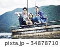 釣りを楽しむ家族 34878710
